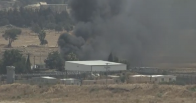 מעבר קונייטרה הועלה באש על ידי המורדים לפני עזיבתם את האזור