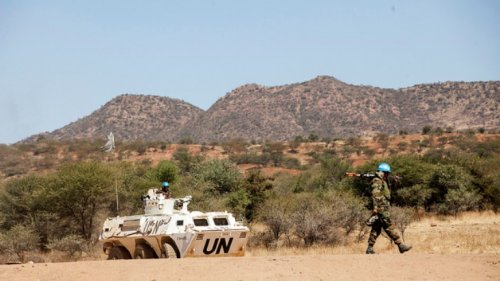 UNAMID peacekeepers on patrol in Sortony, North Darfur on 10 Nov 2016 (UNAMID Photo)