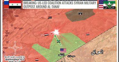 """נגעת-חטפת! ארה""""ב תקפה כוח סורי שניסה להתקדם לעבר אלתנף."""