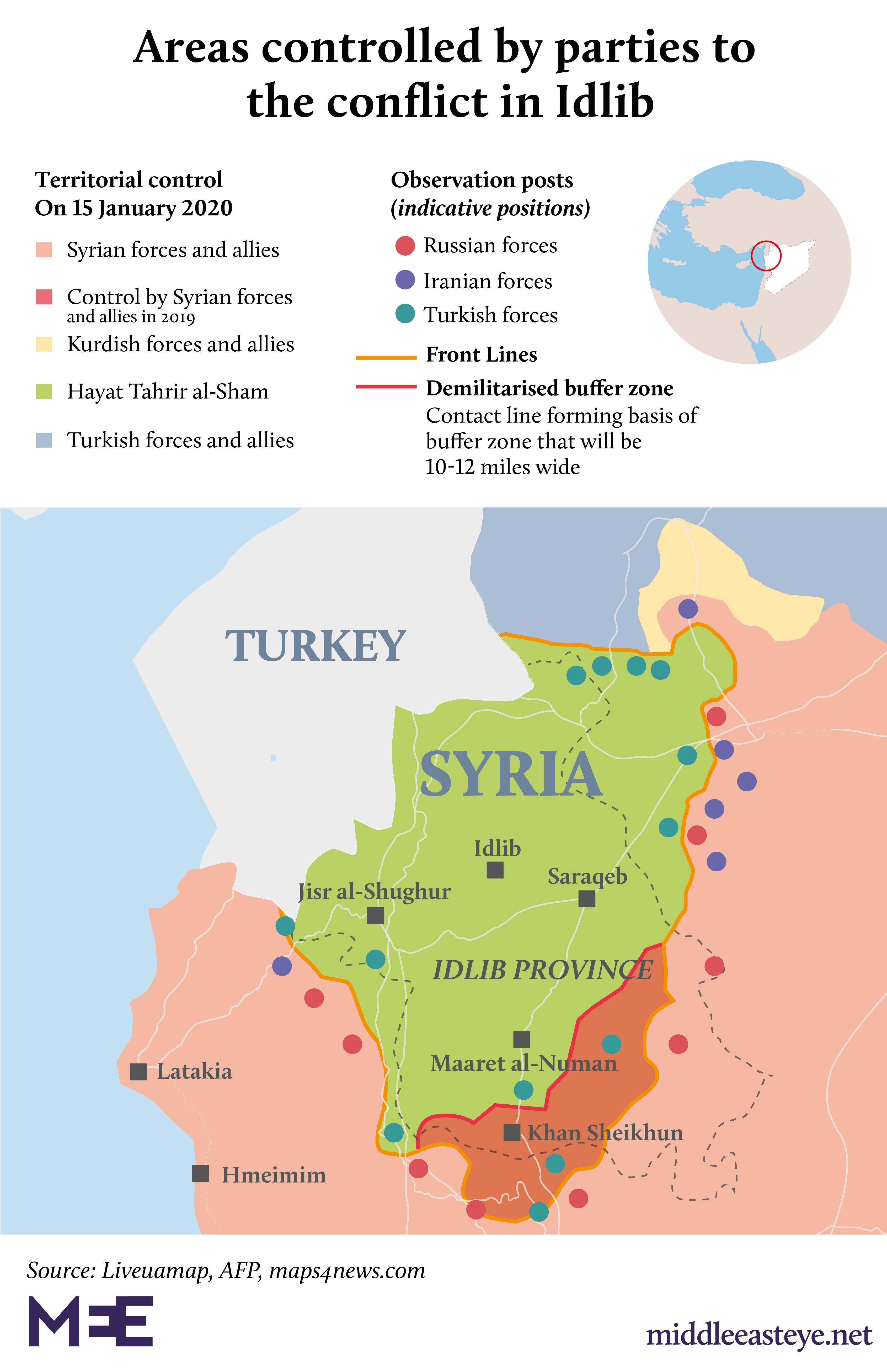 Carte d'Idlib