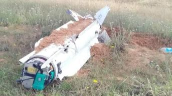 Photo of the remains of US-made RIM-66E-5 that landed at Al-Ajaylat