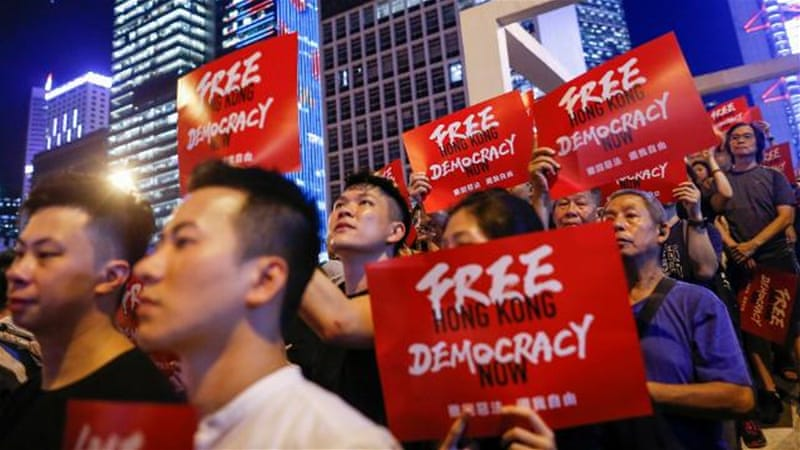 Hong Kong protesters rally again to demand freedoms from China ...