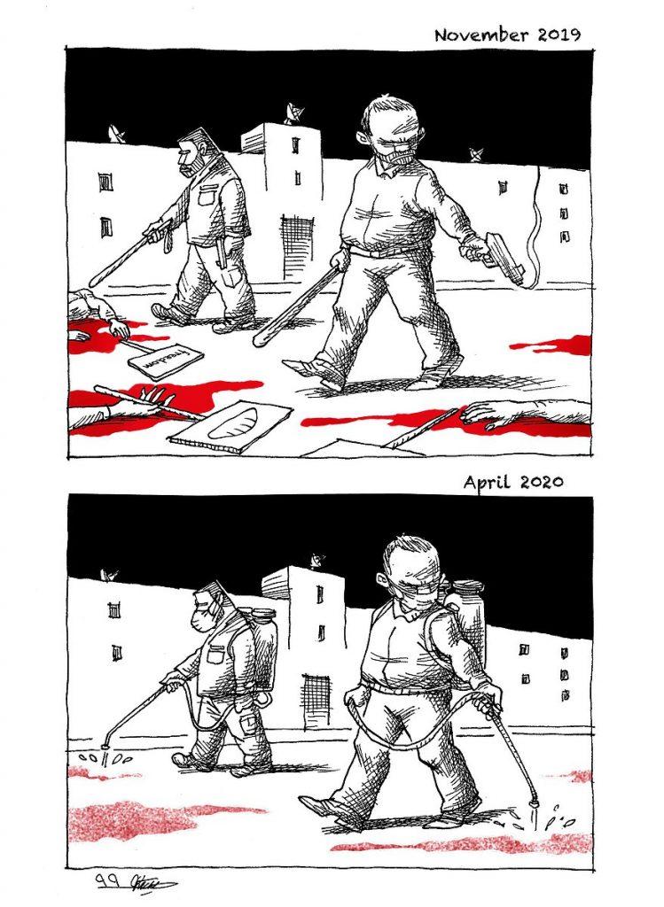 """בריוני המשטר """"מטהרים"""" את איראן"""