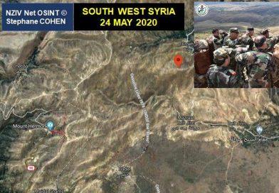 שר ההגנה הסורי מבקר ליד גבול ישראל. איתור מיקום והמסר מאחורי