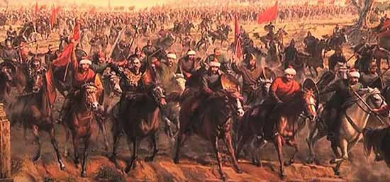 חיילי האיפריה העות'מאנית תוקפים