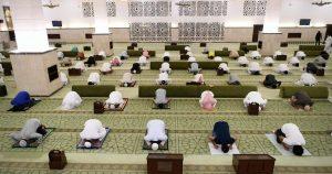 שמירת מרחק במסגד במכה