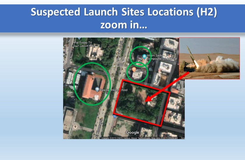 Israeli research center finds locations of 28 new Hezbollah missile launch sites in Beirut, Lebanon (photo credit: ALMA RESEARCH AND EDUCATION CENTER)