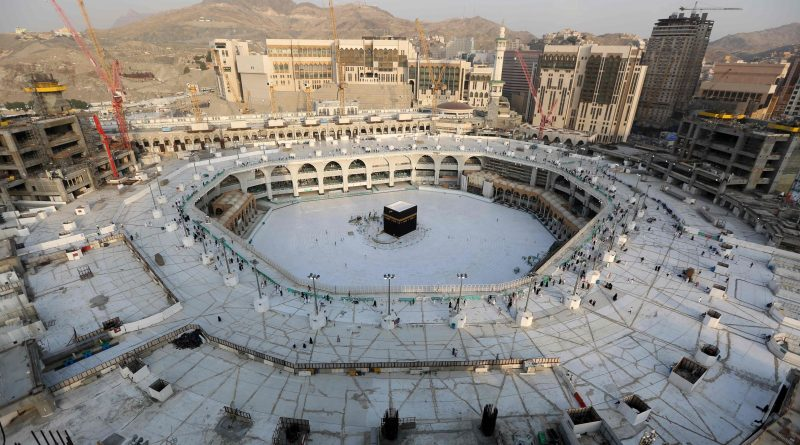 empty Kaaba Grand Mosque