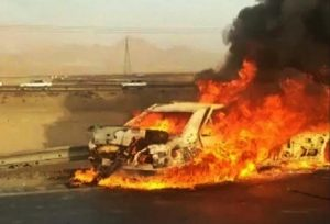 Fule-Smuglers-Baluches-in-Iran-burnt-car
