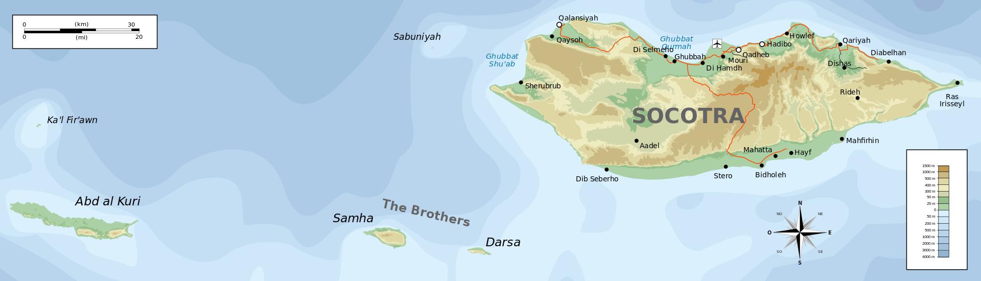 Carte topographique de Socotra-en.svg