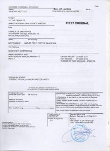 Bill-of-Lading-Shipping-doc-signed-by-Captain-fro-Ammonium-nitrate-Delivery