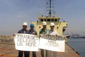 Ukrainian sailors beg for help in Beirut