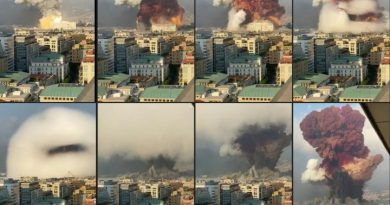 רצף תמונות הפיצוץ