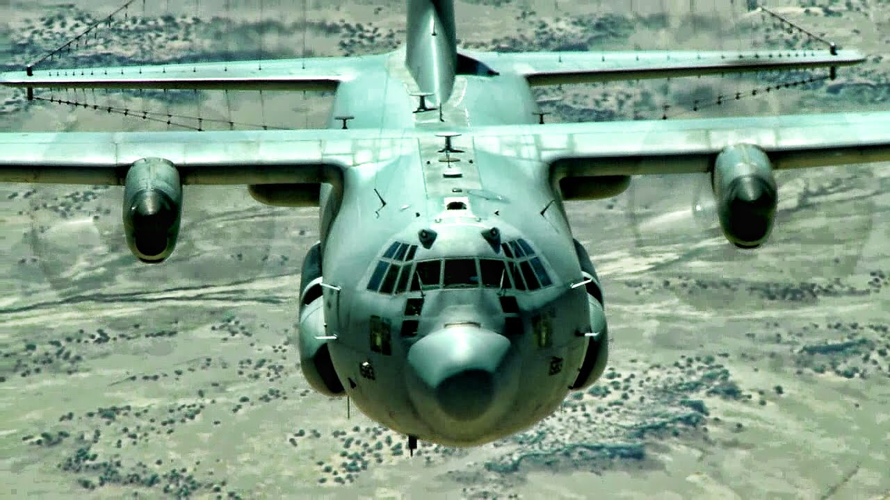 EC-130H Compass Call Airborne Tactical Weapons System Aerial - YouTube