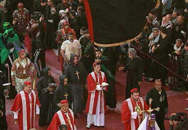 Arbaeen-Pilgrims-Christian-Priests-2