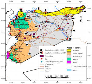 Syria-Oil-illegal-Export-ISIS-time-2015-map-a