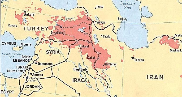 Irak, Turquie et Iran