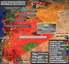 Situation militaire en Syrie le 25 septembre 2019 (mise à jour de la carte)