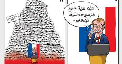 מקרון מטיף מוסר למוסלמים אך מסרב להתנצל בפניהם על פשעים של ארצו